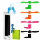 Mini USB Fan for iPhone and Android Plug & Play Sports Travel Camping Cooling Fa