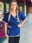 Indianapolis Colts Women's Mock Wrap Scrub Top