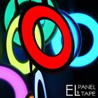 60mm EL Hoop  -   Electroluminescent Glow Paper,  Foil circle in 8 colours