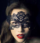 Stunning Black Venetian Masquerade Mask Eye Halloween Party Lace Fancy Dress New