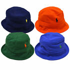 Polo Ralph Lauren Bucket Hat Mens Mesh Knit Embroidered Pony Logo Solid Cap New
