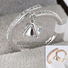 A1-R3125 Fashion Charm Ring 18KGP Pave Prong Setting CZ Rhinestone Crystal