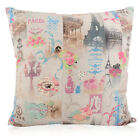 French eiffel Tower/cafe multi colour FILLED CUSHION or COVER ONLY various sizes