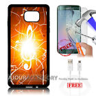 Samsung S6 Edge+ Plus 5.7' Case Cover Tempered Glass Film A4872 Music