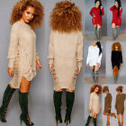 Fashion Womens Long Sleeve Knit Bodycon Slim Party Cocktail Sweater Short Dress