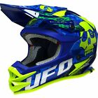 New UFO ONYX Motocross Enduro Helmet GOLD ACU Road Legal CRF KXF KX CR YZF WRF