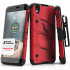 For Alcatel Idol 4 Case Cover Tempered Glass Kickstand Holster Armor Shockproof <br/> Military Drop-Tested✔Tempered Glass✔Holster✔Lanyard✔