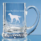 Gordon Setter Dog Lover Gift Personalised Engraved Fine Glass Tankard Dad Gift