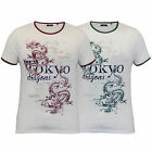 Mens T Shirt Brave Soul Short Sleeved Tokyo Dragons Print Top Crew Neck Summer