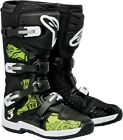 Alpinestars Tech 3 Adult Offroad Boots Black/Green Swirls Size 5-16