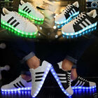 Unisex Led Light Lace Up Sneaker Sportswear Striped Luminous Casual Shoes New