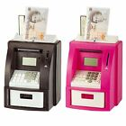 PINK OR BLACK ELECTRIC COIN ATM MONEY COUNTING SAVINGS DIGITAL PIGGY BANK