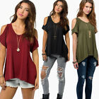 Women's Fashion Off Shoulder Sexy T-shirts Casual Top Quality Blouse Shirts Tops