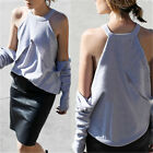 Sexy Women Off Shoulder Fashion Blouse Halter Gray Casual Elegant Shirts Tops