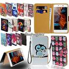 Leather Stand Flip Wallet Cover Case For Various Lenovo Models SmartPhone +Strap
