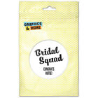 Bridal Squad Wedding Bachelorette White Personalized Refrigerator Button Magnet