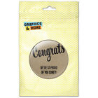 Congrats Congratulations Celebration Personalized Refrigerator Button Magnet