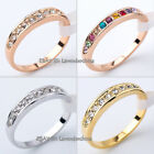 A1-R111 Engagement Wedding Band Ring 18KGP Rhinestone Crystal Size 5.5-10