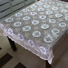 "T66 Handmade Craft Crochet & Embroidered Cotton Tablecloth 48""x 64"""