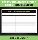 Beauty Treatment Forms Consultation Cards for Salon Beauty Therapist