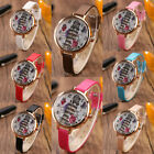 1 Piece Charm Womens Tower Digital Gold Plated Quartz Leather Wristwatch