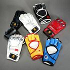 Half-Finger Boxing Gloves PU Leather Martial Art Fighting Training Mitts 1 Pair