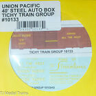 Tichy Train Group #10133 Decal for: Union Pacific 40' Steel Auto Boxcar (Serves