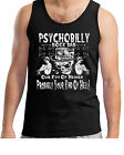 Herren Psychobilly Bar T-Shirt ärmellos Abnutz-Look Punk Rockabilly Rocker