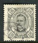 PORTUGUESE INDIA;  1885 early classic Carlos issue used 1.5r. value