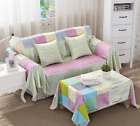 Cotton L-Shaped Sofa Lounge Couch Cover Protector for 1 2 3 4 seater Slipcover L