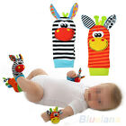New 1Pair Infant Baby Kids Foot Sock Rattles finders Glove Toys Developmental