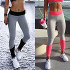 Fashion Women Stitch color Ring print Fitness Gym Exercise Sports Yoga leggings