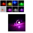 1/2pcs LED Earrings Three Overlap Round Glowing Light Up Stud Earring New