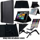 "Folio Stand Leather Cover Case For Barnes & Noble NOOK 7"" 9"" Tablet + STYLUS"