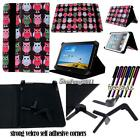 """Folio Stand Leather Cover Case For Various 8"""" 10"""" Huawei MediaPad Tablet+STYLUS"""