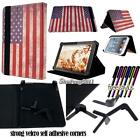 """Folio Stand Leather Cover Case For Various 9"""" 10"""" Hipstreet Model Tablet+STYLUS"""