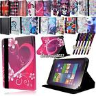 Folio Stand Leather Cover Case For Various Lenovo Tab Tab2 Tab3 Tablet + STYLUS