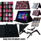 Folio Stand Leather Cover Case For Various Toshiba Excite Model Tablets + STYLUS