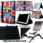 """Universal Folio Stand Leather Cover Case For Various 9"""" 10"""" Models Tablet + pen"""