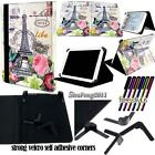 "Universal Folio Stand Leather Cover Case For Various 9"" 10"" Models Tablet + pen"