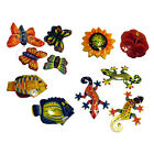 Hand Painted Colorful Butterflies, Fish, Flowers, Lizards Magnet Fair Trade