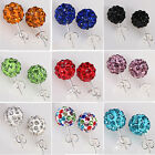 1 pair New Women Fashion Jewelry Crystal Rhinestone Beads Studs Earrings CHIC