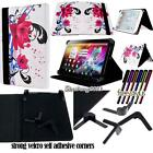 Folio Stand Leather Cover Case For GoTab 7* 8* 9* 10* Models Tablet + STYLUS
