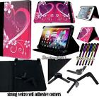 """Folio Stand Leather Cover Case For GoTab 7"""" 8"""" 9"""" 10"""" Models Tablet + STYLUS"""