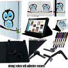 """Folio Stand Leather Cover Case For Various 7"""" 10"""" Kobo Models Tablet + STYLUS"""