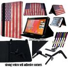 """Folio Stand Leather Cover Case For Various Medion LifeTab 7"""" 8"""" Tablet + STYLUS"""