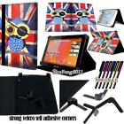 "Folio Stand Leather Cover Case For Various Medion LifeTab 7"" 8"" Tablet + STYLUS"