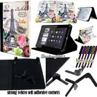 New Folio Stand Leather Cover Case For Various Coby Kyros Model Tablet + STYLUS