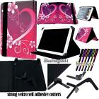 "For Various 7"" inch Tablets - Universal Folio Stand Leather Cover Case + STYLUS"