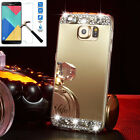 US Bling Silicone Gel TPU Mirror Case Cover For Samsung Galaxy & Tempered Glass